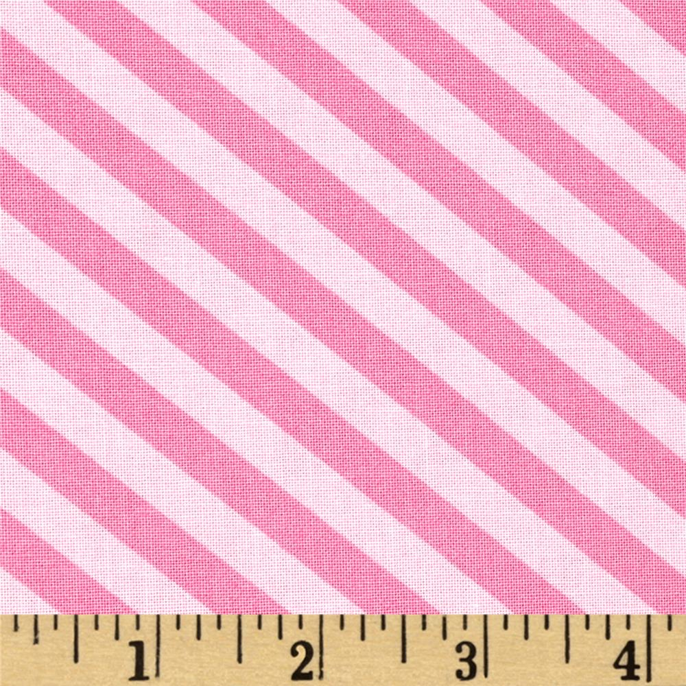 Moda Grow Grown Up Stripe Popping Pink