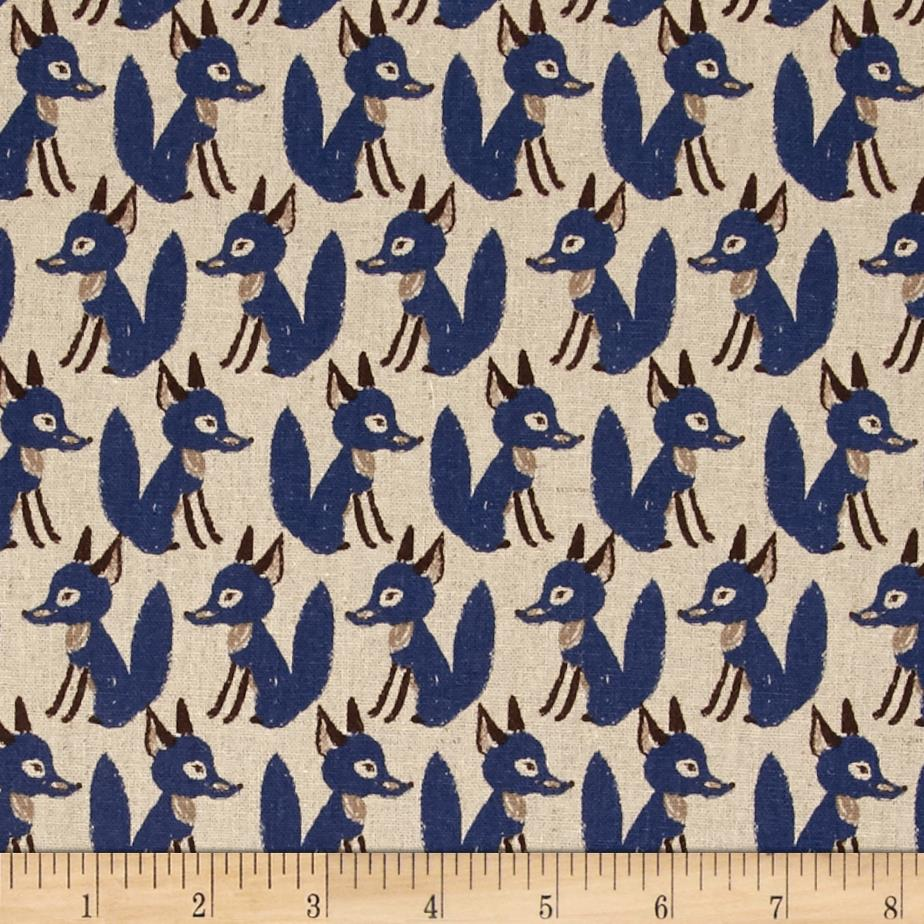 Seven Islands Foxes Cotton/Linen Blend Blue