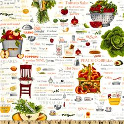 Kiss The Cook Recipes White/Multi