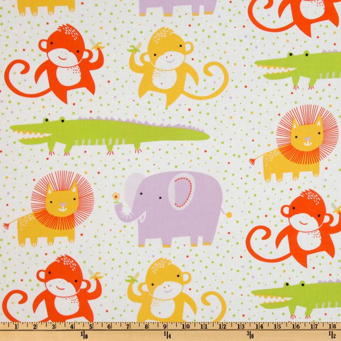 Safari Sweet Organic Animals & Dots White