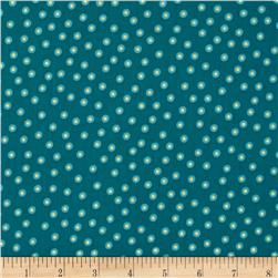 Happy Holidays Metallic Dots Teal