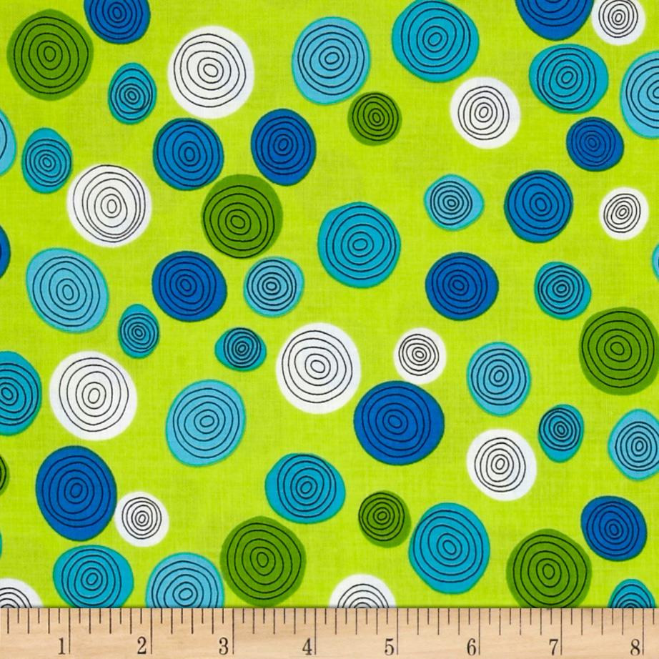 Kanvas What a Whirl Whirly Dot Lime