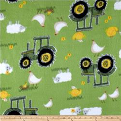 John Deere Nursery Fleece Sheep, Bird, Tractor Green