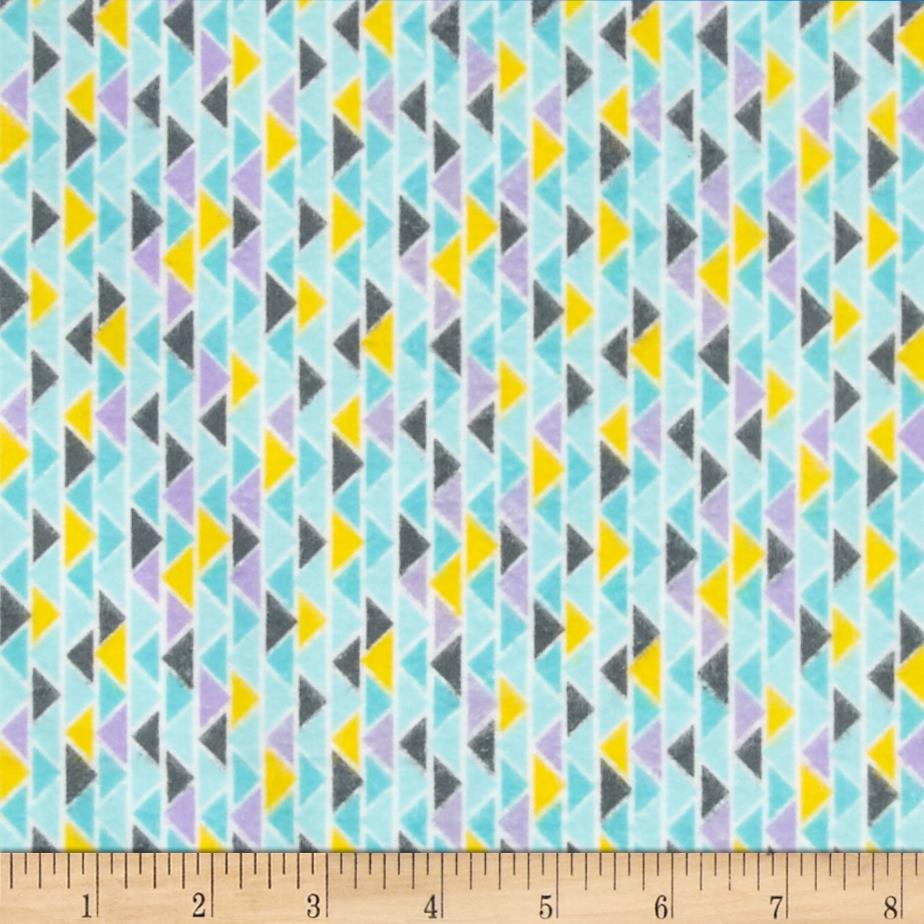 Cuddle Me Basics Flannel Geo Turquoise Fabric By The Yard