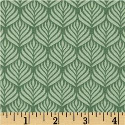 The Color Collection Feather Stripe Green