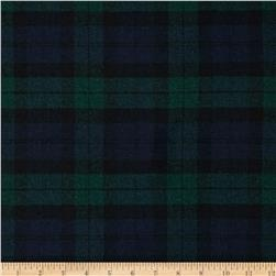 Washable Wool Plaid Emerald/Royal/Black