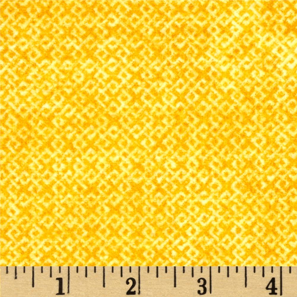 Criss Cross Flannel Yellow