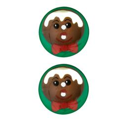 Novelty Winter Wonder Button 1 1/8'' Gingerbread Man