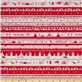 Dear Stella North Pole After Dark North Pole Stripe Red