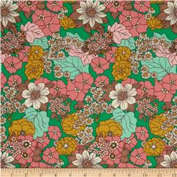 Joel Dewberry Bungalow Dainty Daisies Emerald Fabric