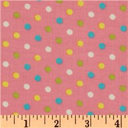 Kaufman 21 Wale Cool Cords Small Dot Rose
