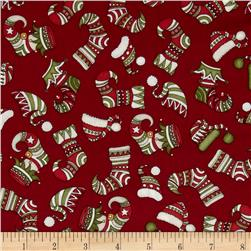 Holly Jolly Stockings Red