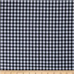 Wide Width 1/4 Gingham Check Black