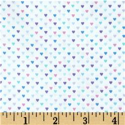 Timeless Treasures Mini Hearts Purple