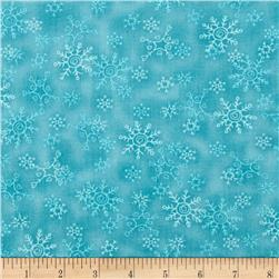 Winter Games Snowflakes Ice Blue