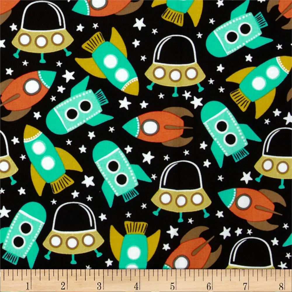 Michael miller retro space station primary discount for Space baby fabric