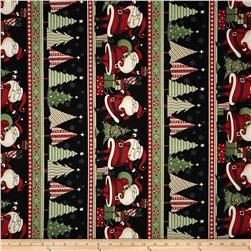 Debbie Mumm Peppermint Santas Repeating Stripe Multi