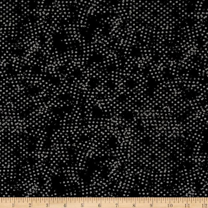 Moda Modern Background Ink Stamped Dots Black