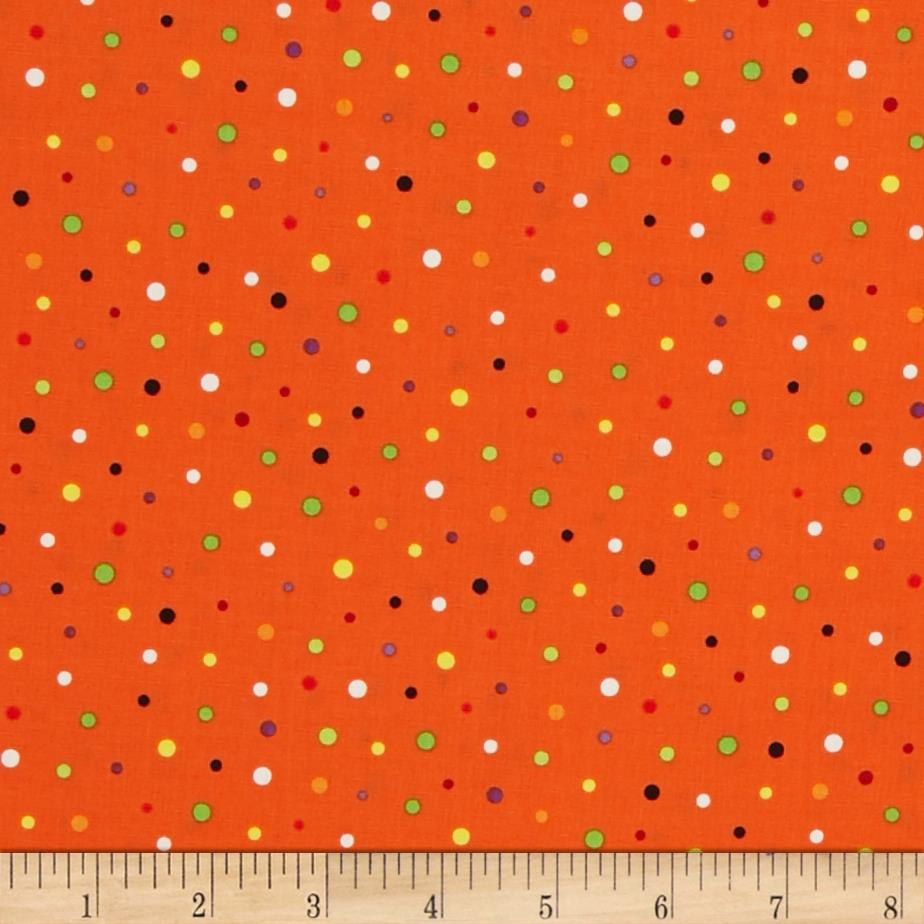 Frightful & Delightful Glow In The Dark Dots Orange