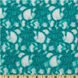 Xanna Floral Lace Fabric Teal
