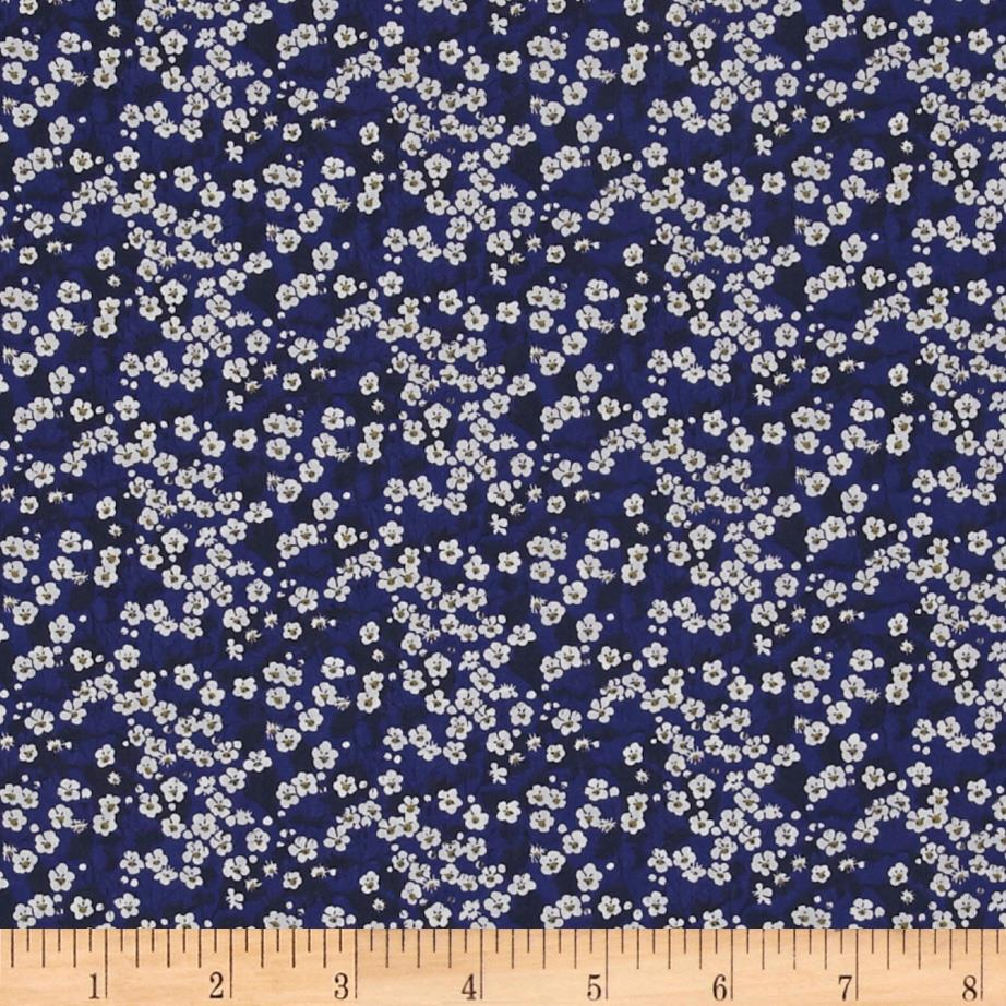 Liberty Of London Tana Lawn Mitsi Valeria Midnight Blue/White