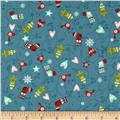 O' Christmas Tree Scroll Teal