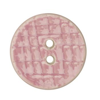 Ceramic Button 1 1/4'' Grid Textures Purple