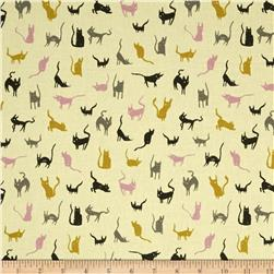 Cotton & Steel Spellbound Cats Maize