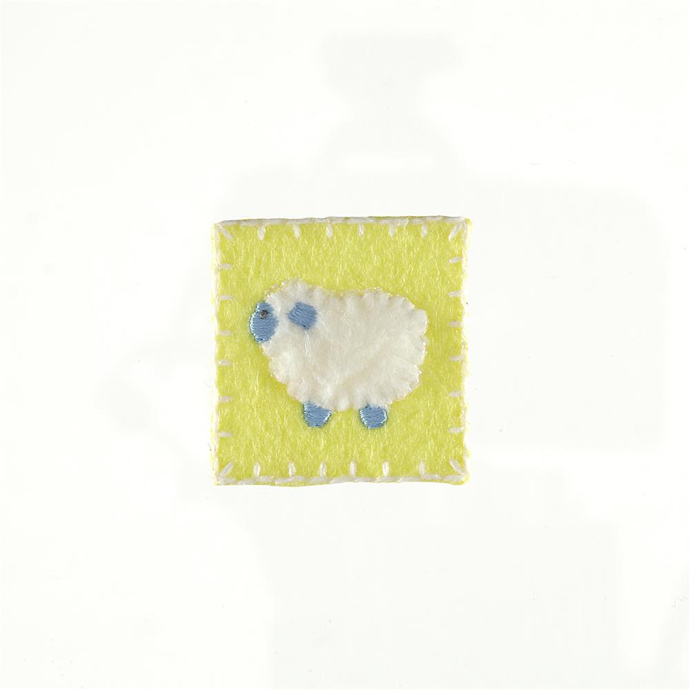 Lamb Applique Yellow
