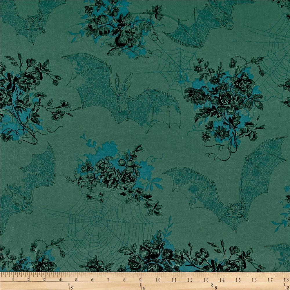 Alexander Henry Jersey Knit Angela's Attic Green Fabric