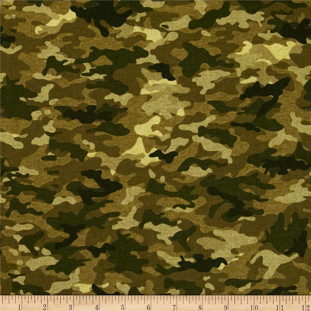 Timeless Treasures Camo Allover Olive