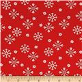 Moda Jingle Birds Snowflake Cardinal