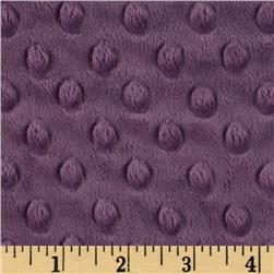 Minky Cuddle Dimple Dot Violet Fabric