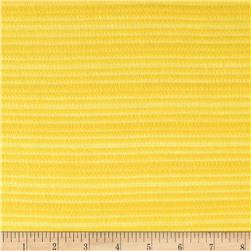 Fine Gauge Knit Shadow Stripe Bright Yellow