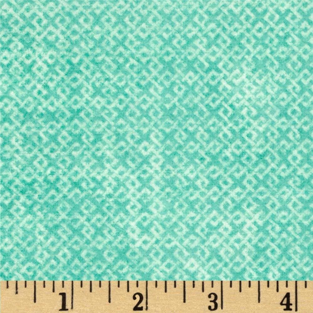 Criss Cross Flannel Teal