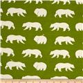 Birch Organic Bear Camp Interlock Knit Bear Hike Grass