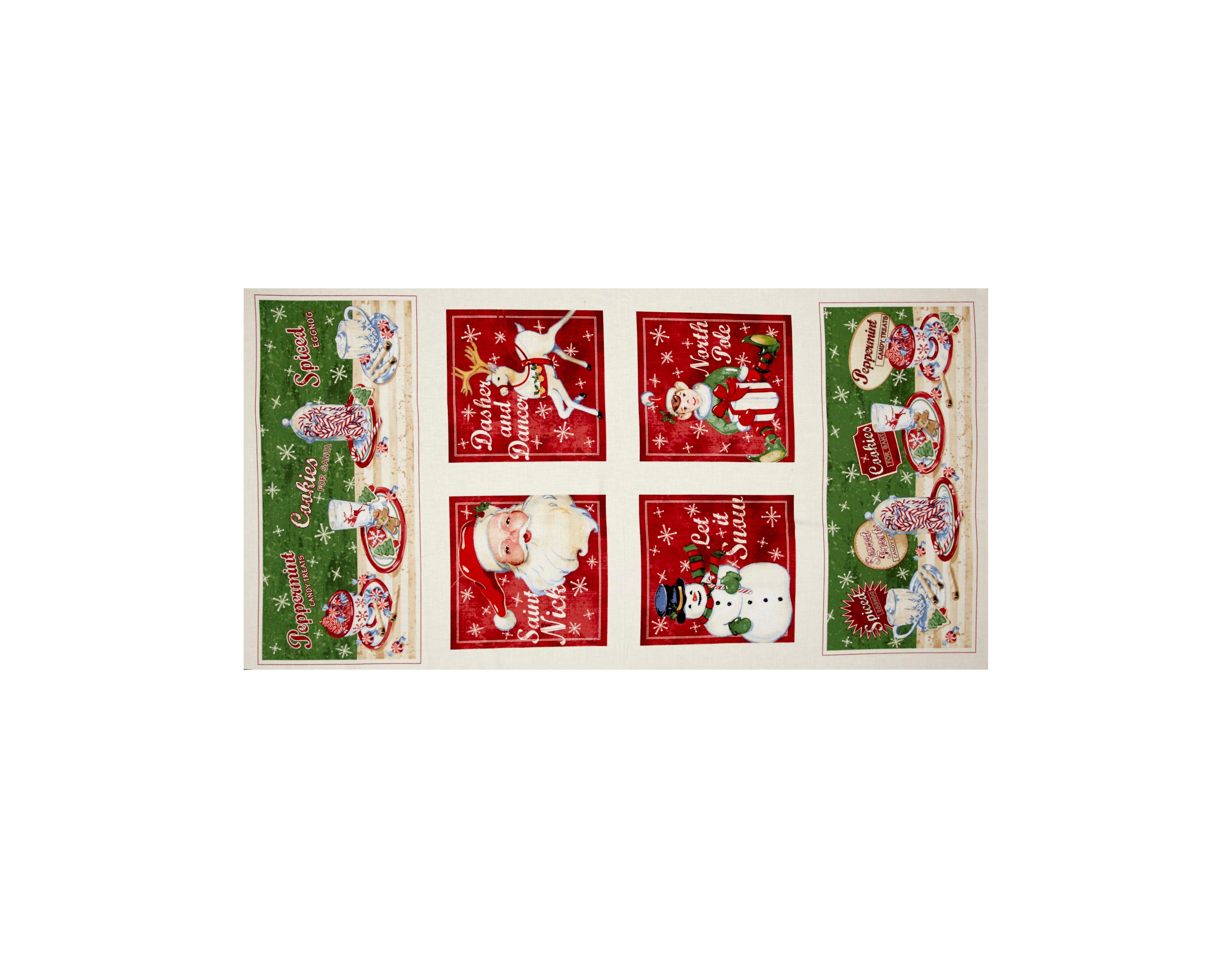 Home For The Holidays 24'' Panel Multi Fabric by Red Rooster in USA