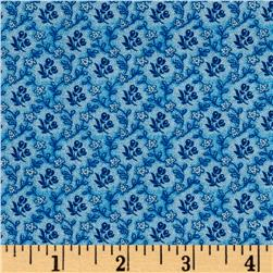 Reproduction Petite Calico Floral Bue