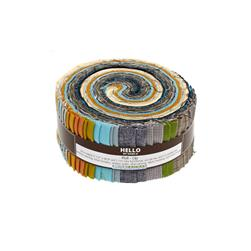 "Kaufman Shimmer Coordinates 2.5"" Roll Up Multi"
