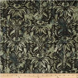 Contempo Hand Made Damask Dark Turquoise Green