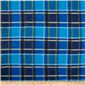 Printed Fleece Traditonal Plaid Blue