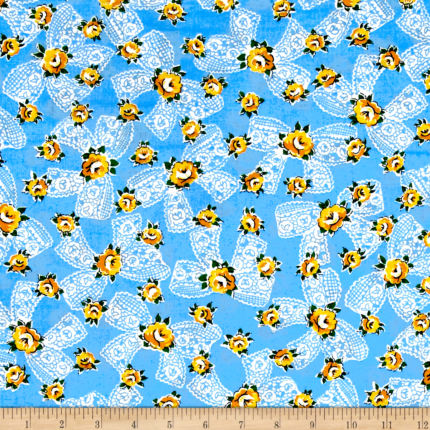 Image of Everything But The Kitchen Sink Pinafore Something Blue Fabric