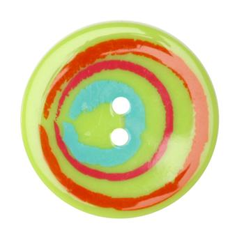 Fashion Button 1-3/8'' Confetti Sketchy Circles Lime