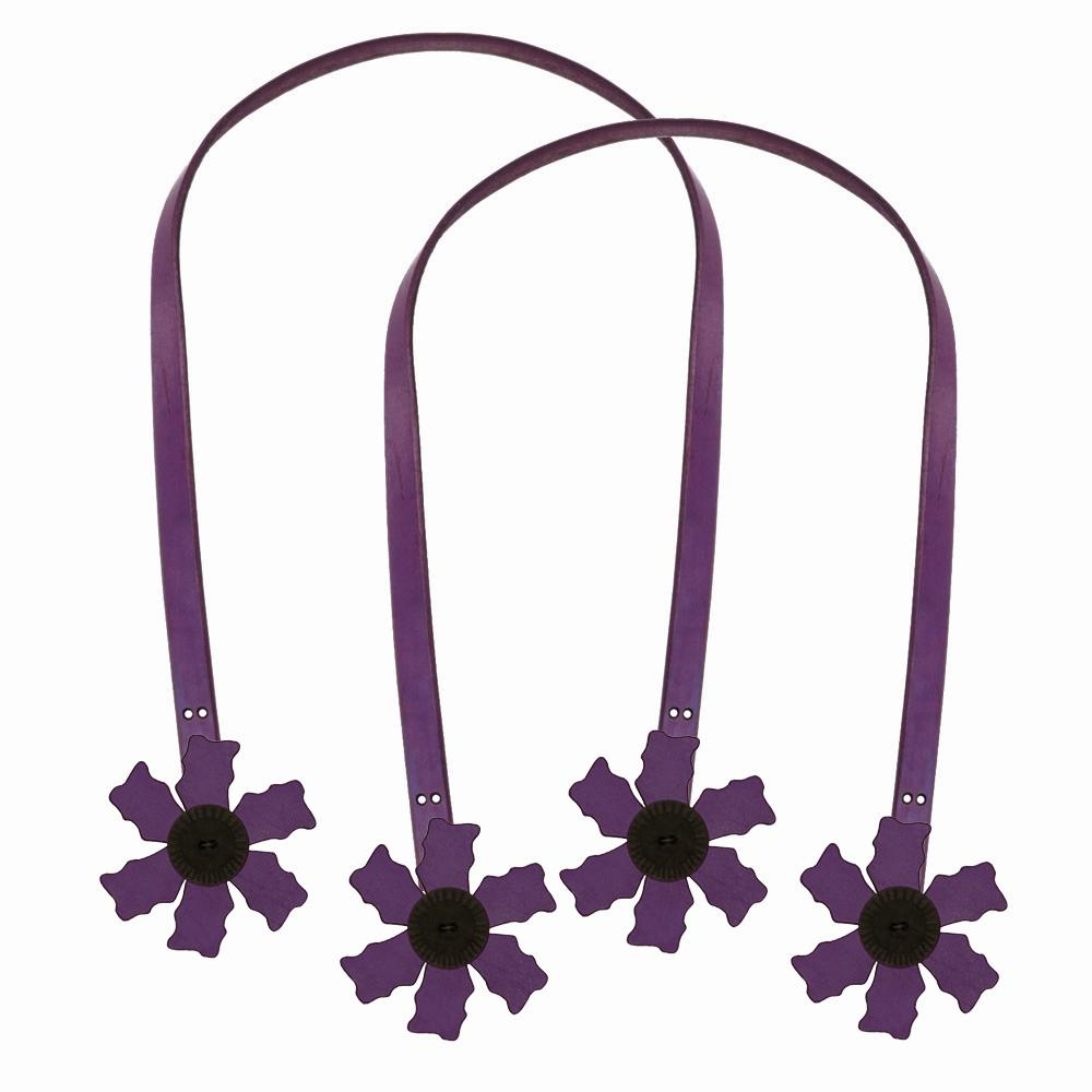 Cindy's Purse Straps 32'' Flower Purple