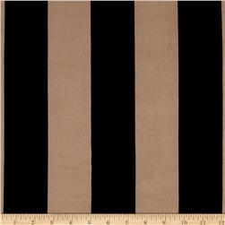 Stretch ITY Jersey Knit Classis Stripe Tan And Black
