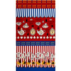 Lecien Judie's Cotton Cards & Silhouette Border Red