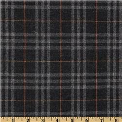 Yarn Dyed Plaid Sparkle Suiting Grey/Red