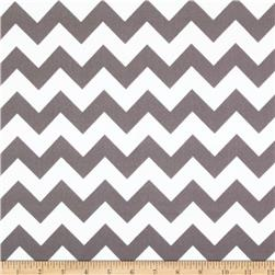 Riley Blake Flannel Basics Chevron Medium Grey Fabric