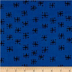 Twilight Mud Cloth Criss Cross Twilight Blue