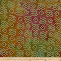 Indian Batiks Aztec Pink/Yellow